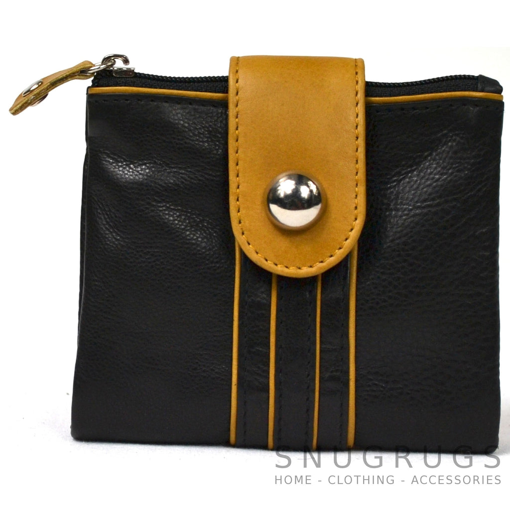 Rosie - Prime Hide Leather Fold-over Purse - Mustard
