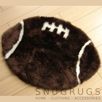 Sheepskin Rugby Ball Rug
