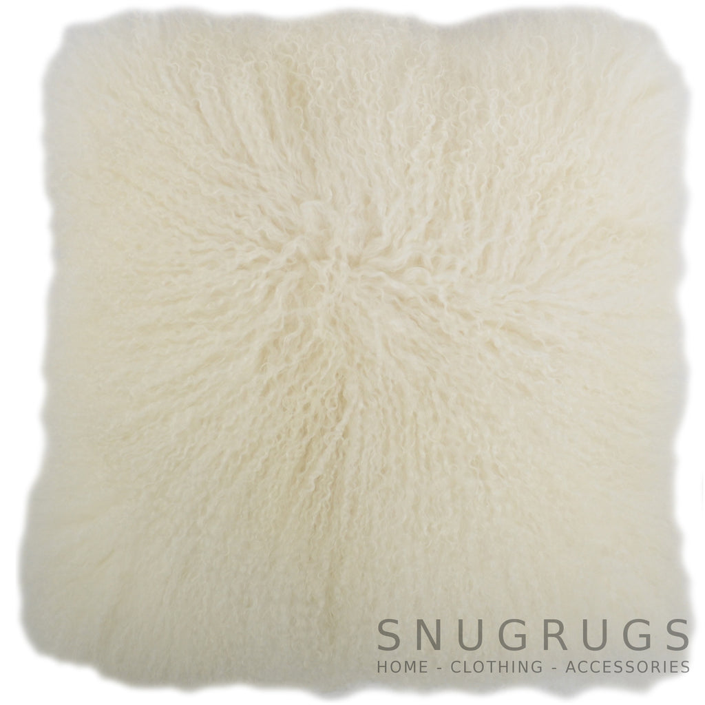 Mongolian Sheepskin Cushion 60cm x 60cm - Ivory