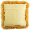 Mongolian Sheepskin Cushion 40cm x 40cm - Mustard