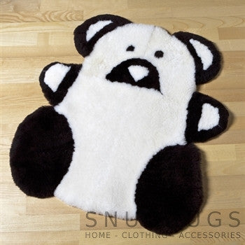 Sheepskin Teddy Rug - Black & White