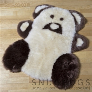 Sheepskin Teddy Rug - Brown & White