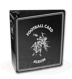 "BCW 3"" Album Binder, 3-ring, Black, Football"
