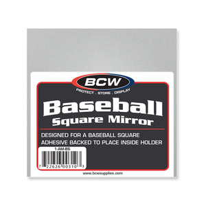 BCW Adhesive Mirror Back - For Baseball Holder
