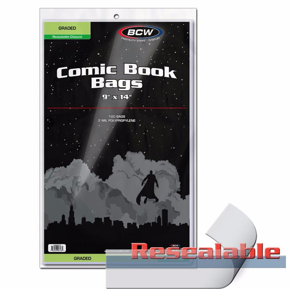 BCW Resealable Graded Comic Bags (100ct)