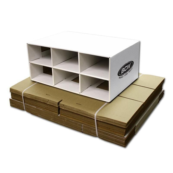 BCW Shoe Box House Cardboard Storage Box - 6 spaces