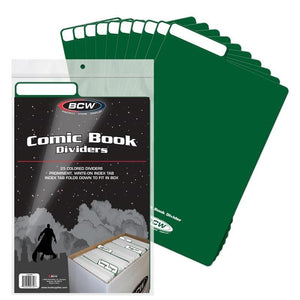 BCW Comic Book Box Dividers - Green (25ct)