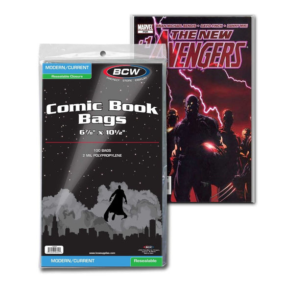 BCW Resealable Current/Modern Comic Bags (100ct)