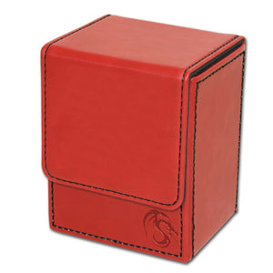 BCW Deck Case LX - CCG Card Storage Case - Red