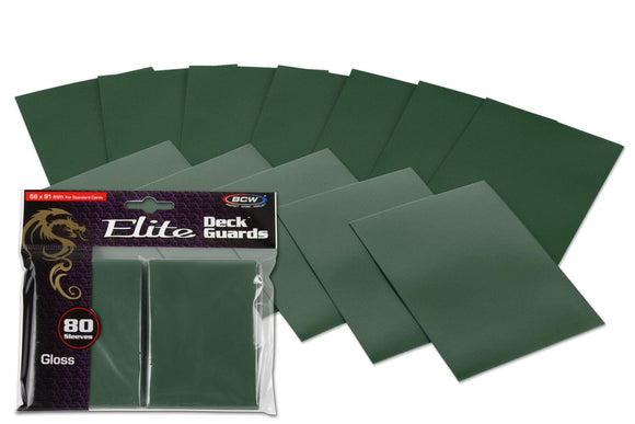 BCW Elite Deck Guards - Gloss Green (80ct)