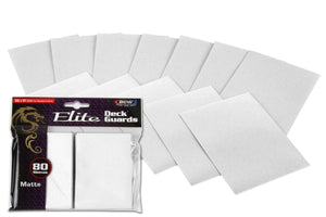 BCW Elite Deck Guards - Matte White (80ct)