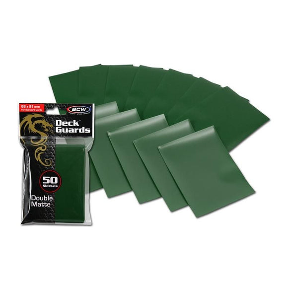 BCW Deck Guards - Double Matte Green (50ct)