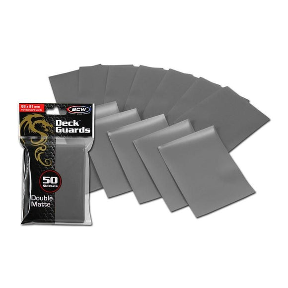 BCW Deck Guards - Double Matte Grey (50ct)