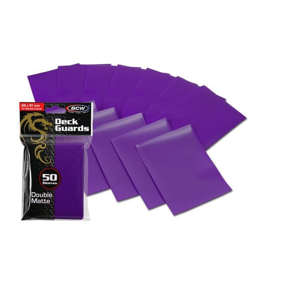 BCW Deck Guards - Double Matte Purple (50ct)