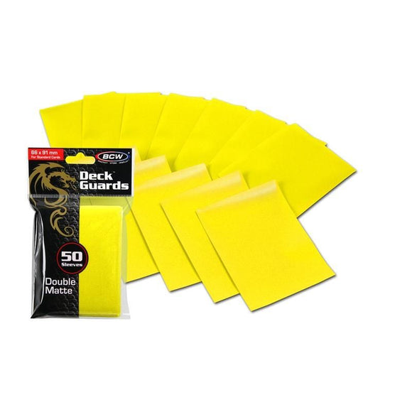 BCW Deck Guards - Double Matte Yellow (50ct)