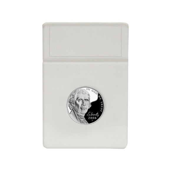 BCW Coin Slab White Inserts - US Nickel 21.2mm (25ct)