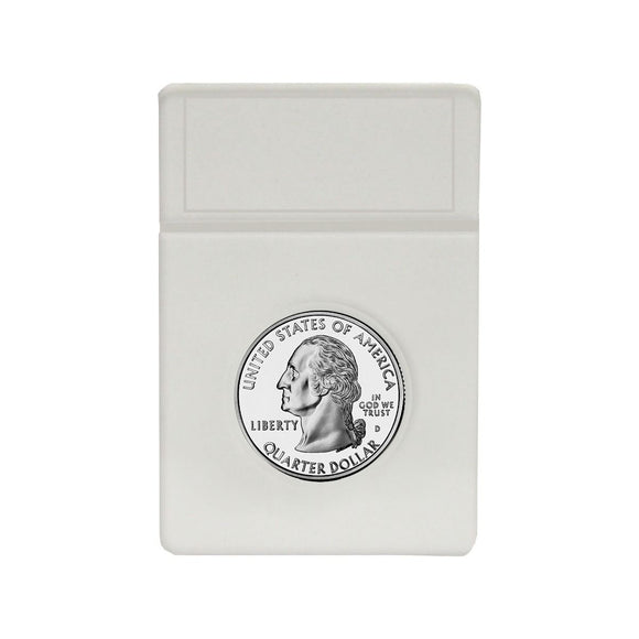 BCW Coin Slab White Inserts - US Quarter 24.3mm (25ct)