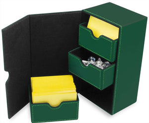 BCW Deck Vault LX 200 - CCG Card Storage Case - Green