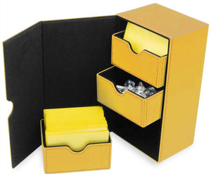 BCW Deck Vault LX 200 - CCG Card Storage Case - Yellow