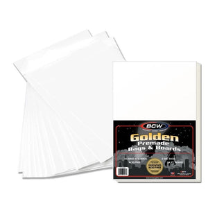 BCW Premade Resealable Golden Comic Bag+Board (50ct)