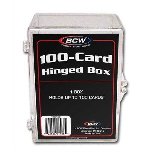 BCW Hinged Plastic Trading Card Case 100ct