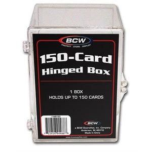 BCW Hinged Plastic Trading Card Case 150ct