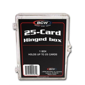 BCW Hinged Plastic Trading Card Case 25ct