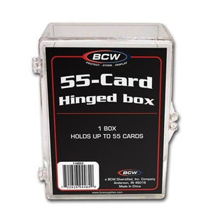 BCW Hinged Plastic Trading Card Case 55ct