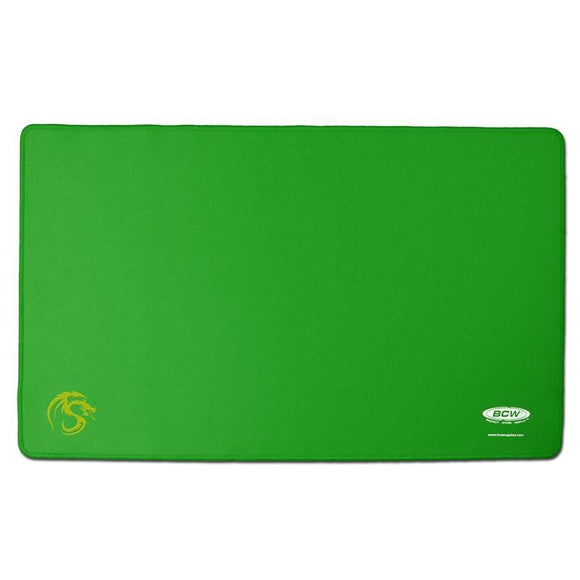 BCW Gaming Playmat w/ Stiched Edging - Green