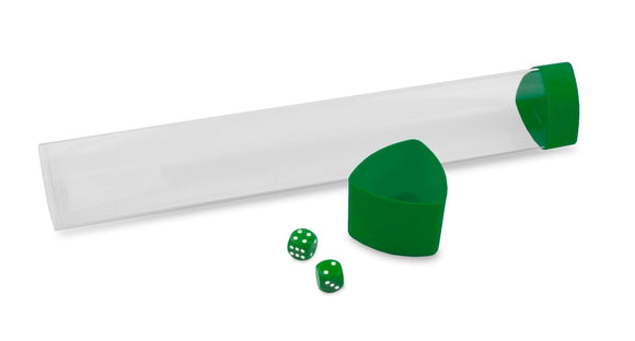 BCW Gaming Playmat Tube w/ Dice Cap - Green