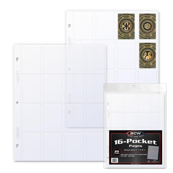BCW Pro 16-Pocket Pages (20ct)