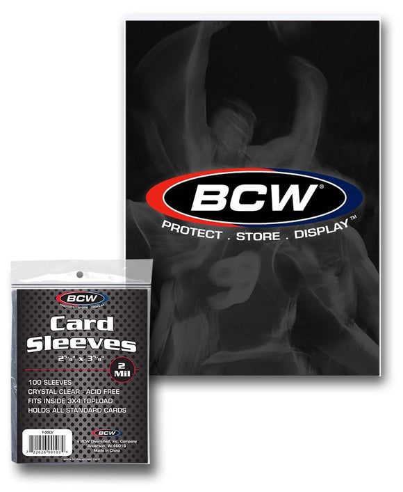 BCW Standard Trading Card Penny Sleeves (100ct)