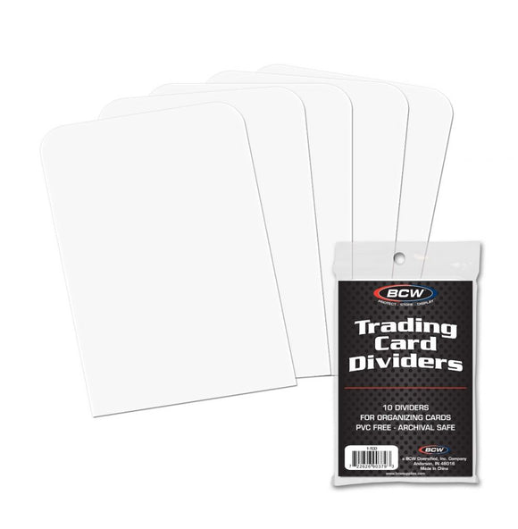 BCW Write-On Trading Card Dividers (10ct)