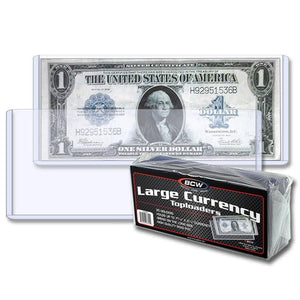 BCW Currency Toploader - Large (25ct)