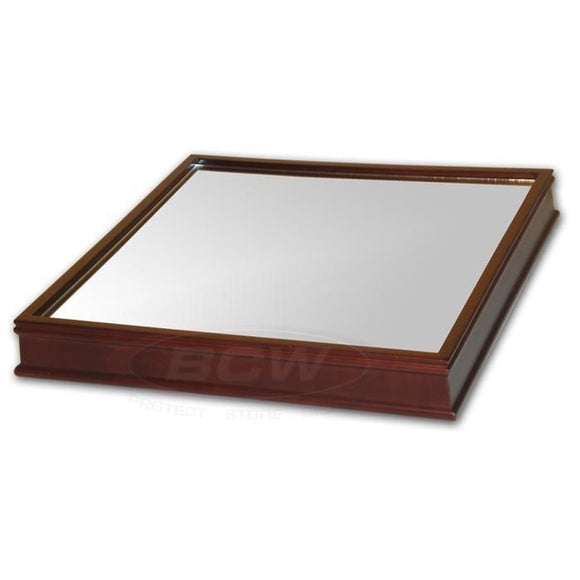 BCW Wood Base w/Mirror - For Basketball Holder