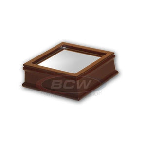 BCW Wood Base w/Mirror - For Baseball Holder