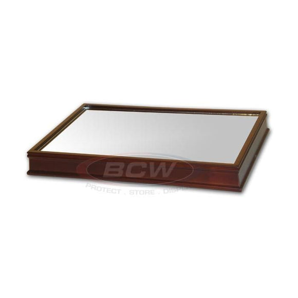 BCW Wood Base w/Mirror - For Football Holder