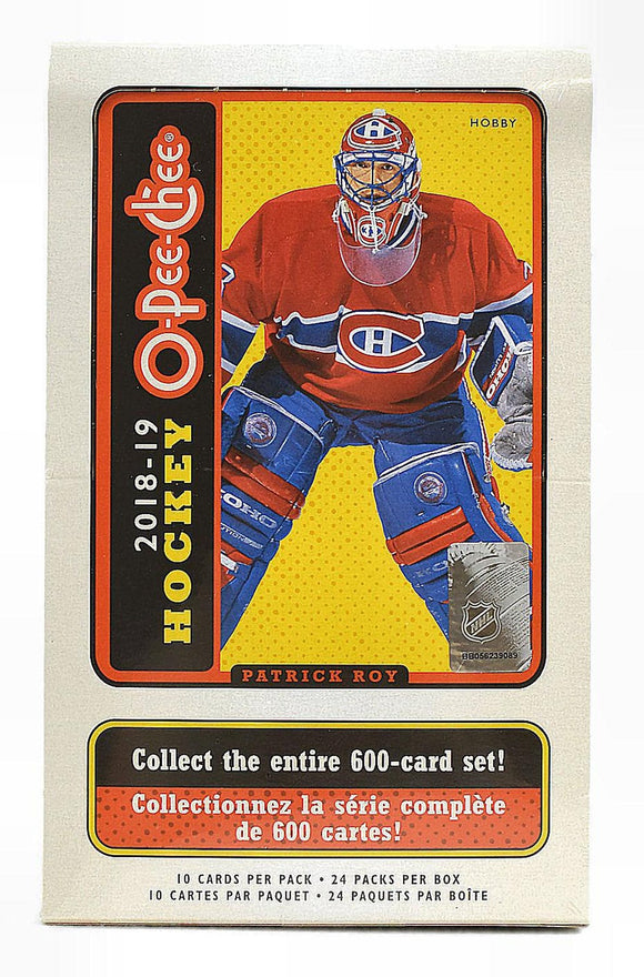 2018-19 Upper Deck O-Pee-Chee NHL Hockey - Hobby Box