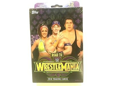 2018 Topps Road to Wrestlemania trading cards - Hanger Box