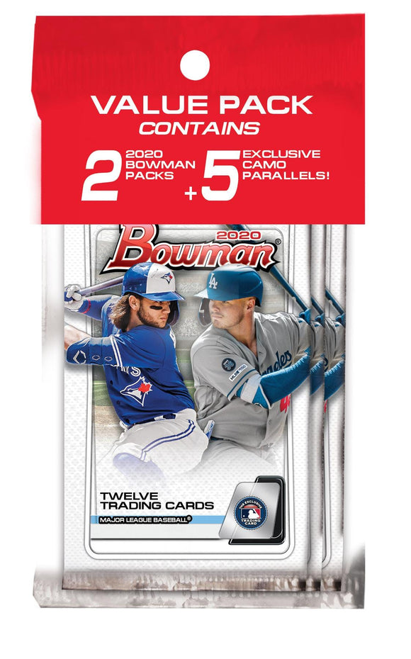 2020 Topps Bowman MLB Baseball - Cello/Fat/Value Pack