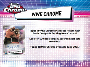 2021 Topps Chrome WWE Wrestling cards - Blaster Box