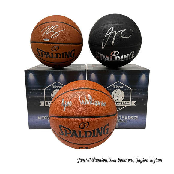 2020-21 Hit Parade Autographed Full Size Basketball Series 1 - Zion, Tatum & Giannis!!!