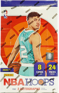 2020-21 Panini Hoops NBA Basketball cards - Hobby Box