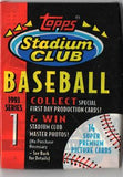 1993 Topps Stadium Club Series 1 MLB Baseball - Retail Pack
