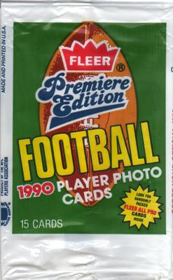 1990 Fleer Premiere Edition NFL Football - Retail Pack