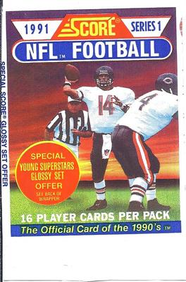 1991 Score Series 1 NFL Football - Retail Pack