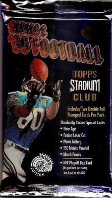 1996 Topps Stadium Club Series 2 NFL Football - Hobby Pack