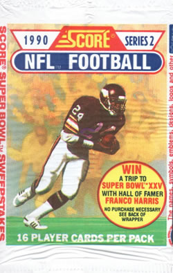1990 Score Series 2 NFL Football - Retail Pack