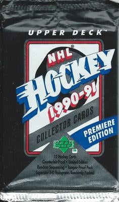 1990-91 Upper Deck Premiere Edition NHL Hockey - Retail Pack