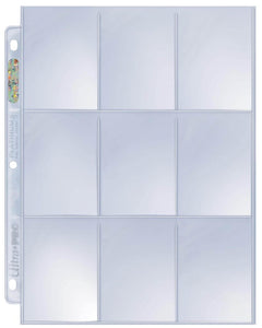 Ultra Pro Platinum 9-Pocket Page - One (1) individual page